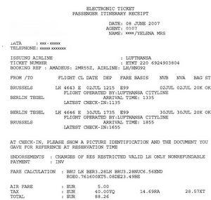 Тарифи на квитки на літак