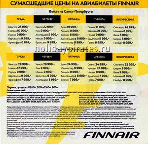 Розпродаж авіаквитків з санкт петербурга